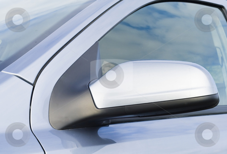 A car side mirror in a close up stock photo, A car side mirror in a close up by Fredrik Elfdahl