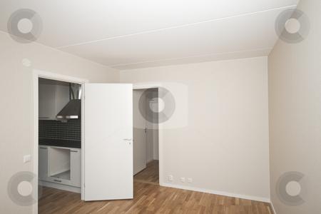 Bedroom stock photo, New bedroom in a new apartment by Fredrik Elfdahl