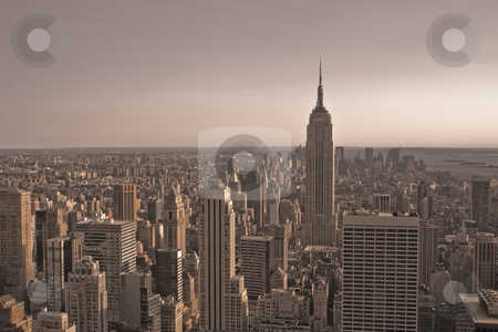 Skyscrapers stock photo, Skyscrapers in New York by Fredrik Elfdahl