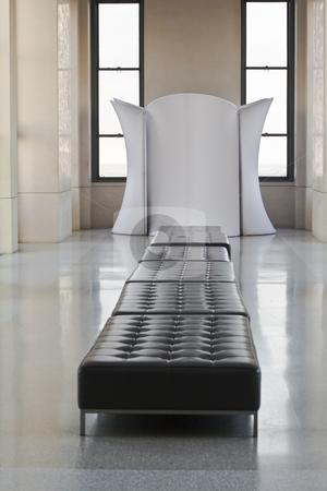 Sofa stock photo, A sofa in a lobby by Fredrik Elfdahl