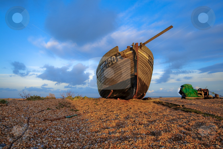 Ship on land stock photo, Old ship laying on land by Fredrik Elfdahl