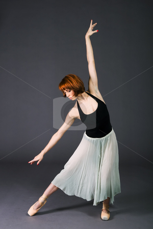 Ballet Dancer stock photo, Young ballet dancer practicing before the show. by Rognar