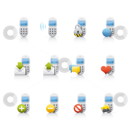 Icon Set - Communications stock vector clipart, Set of icons on white background in Adobe Illustrator EPS 8 format for multiple applications. by Sebasti??n Al?
