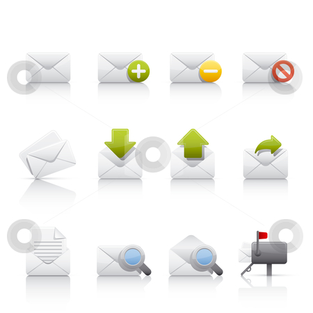Icon Set - Comunications and Mail stock vector clipart, Set of icons on white background in Adobe Illustrator EPS 8 format for multiple applications. by Sebasti??n Al?