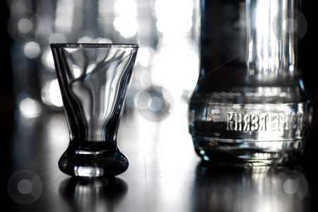 Vodka shot 2 stock photo,  by Dominik Gajerski