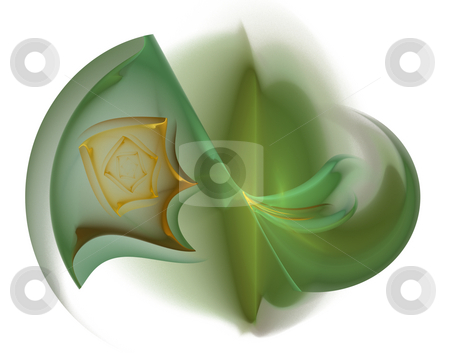 Green thing stock photo, Abstract green thing on white background - illustration by J?