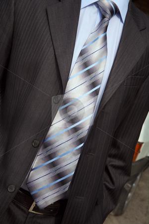 Necktie stock photo, Elegant necktie, shirt and man's suit it is beautiful! by Sergey Goruppa