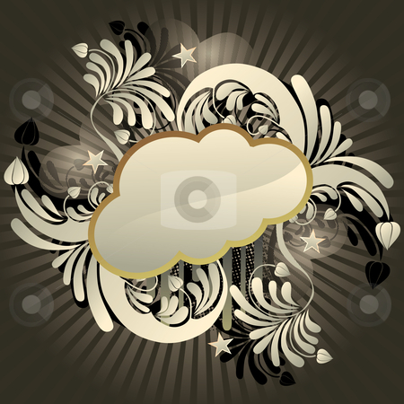 Funky cloud stock vector clipart, Urban retro styled funky cloud with space for text, vector illustration by Milsi Art
