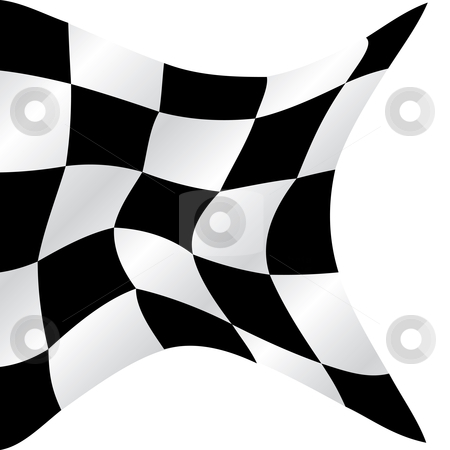 Checkered flag stock vector clipart, Checkered flag waving background, vector illustration by Milsi Art