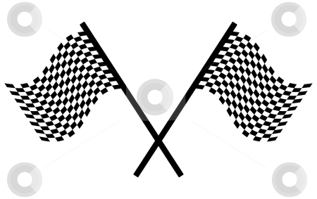 Checkered flags stock vector clipart, Checkered flags - racing simbol, vector illustration by Milsi Art