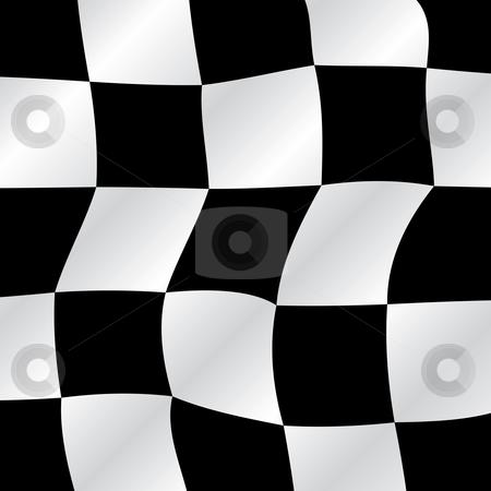 Checkered flag stock vector clipart, Checkered flag waving background, vector illustration by Milsi Art