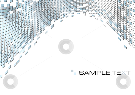 Gray-Blue abstract background stock vector clipart, Gray-Blue squares mosaic abstract background, vector illustration by Milsi Art