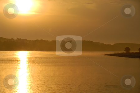 Sunrise on the Danube stock photo, Hungary, Danube River Sunrise by David Ryan