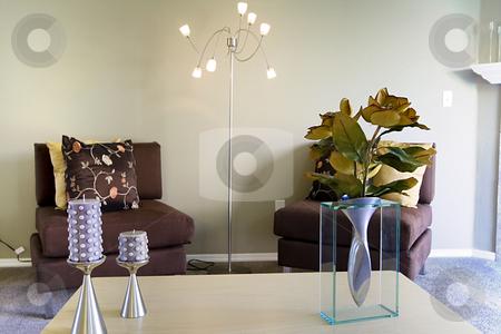 Trendy Modern Living Room stock photo, Close up on a Trendy Modern Living Room by Mehmet Dilsiz