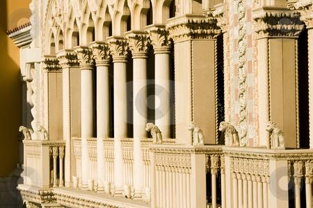 Venetian Style Balcony Columns stock photo, Close up on a Venetian Balcony Columns by Mehmet Dilsiz