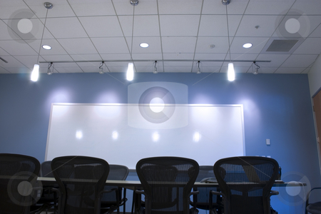 Conference Room Ceiling stock photo, Conference Room and the empty chairs by Mehmet Dilsiz