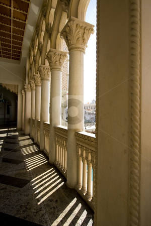 Venetian Style Balcony Columns stock photo, Close up on a Venetian Balcony Columns by Mehmet Dilsiz