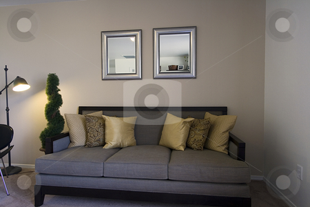 Family Room stock photo, Close up on a Trendy Family Room by Mehmet Dilsiz