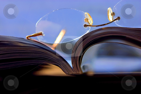 Glasses on the Magazine - Abstract stock photo, Glasses on the Magazine - Abstract Close Up by Mehmet Dilsiz