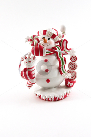 Christmas Decoration House - Snowman stock photo, Snowman Christmas Decoration House by Mehmet Dilsiz