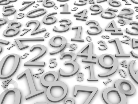 Black and white numbers background. 3d rendered illustration stock photo, Black and white numbers background. 3d rendered illustration by Jiri Moucka