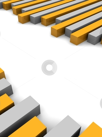 Orange and gray abstract 3d rendered background. stock photo, Orange and gray abstract 3d rendered background. by Jiri Moucka