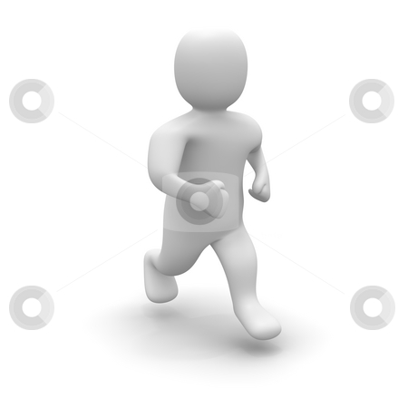 Running man. 3d rendered illustration isolated on white. stock photo, Running man. 3d rendered illustration isolated on white. by Jiri Moucka