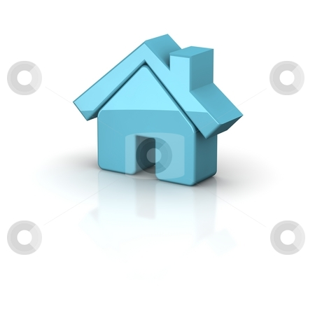 Shiny house icon. 3d rendered illustration. stock photo, Shiny house icon. 3d rendered illustration. by Jiri Moucka