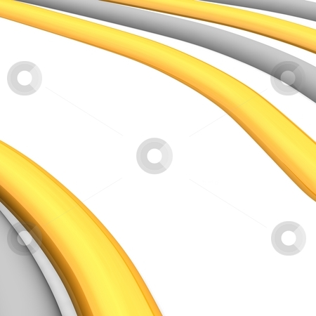 Orange and gray curves stock photo, Orange and gray curves. Abstract 3d rendered background. by Jiri Moucka