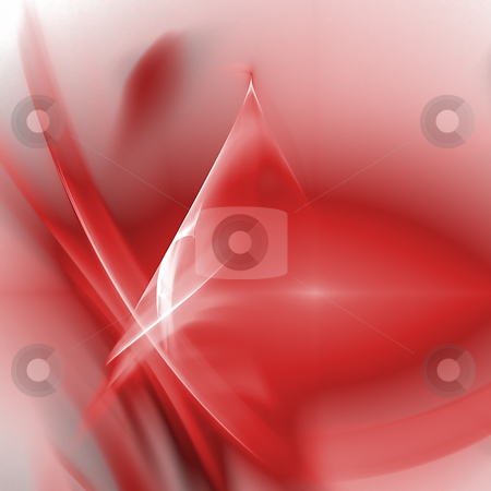Abstract background. Red - white palette. stock photo, Abstract background. Red - white palette. Raster fractal graphics. by Andrey Khritin