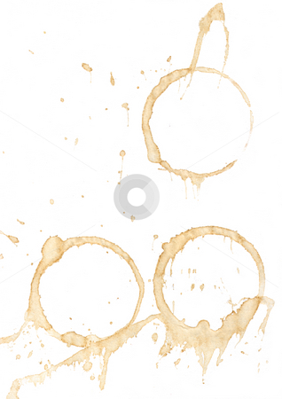 Smeared stock photo, Smeared coffee on white background by J?