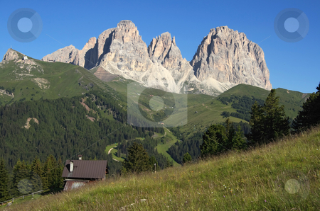 Sassolungo 2 stock photo, Summer view of  italian dolomites in val di fassa by ANTONIO SCARPI