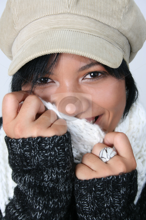 Winter Woman stock photo, Beautiful young woman dressed in winter clothing by Vanessa Van Rensburg