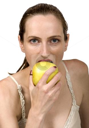 Eating apple stock photo, Eating apple by Desislava Draganova