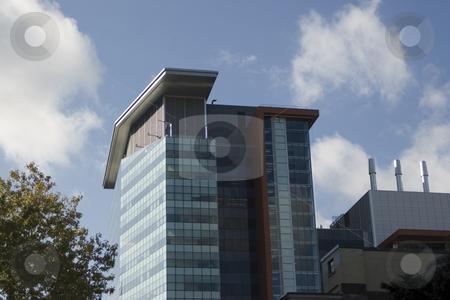 Modern building stock photo, Modern building on blue sky found in montreal by Yann Poirier