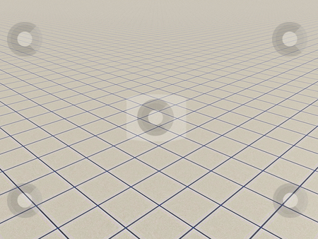 Tiles stock photo, Endless surface with tiles - 3d illustration by J?
