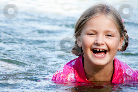Happy swimgirl stock photo, Happy children having fun in the park by Frenk and Danielle Kaufmann