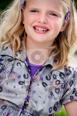Smiling beauty girl stock photo, Happy children having fun in the park by Frenk and Danielle Kaufmann
