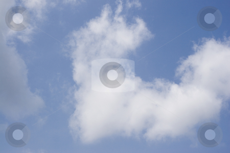Puffy cloud stock photo, Puffy cloud on blue background by Yann Poirier