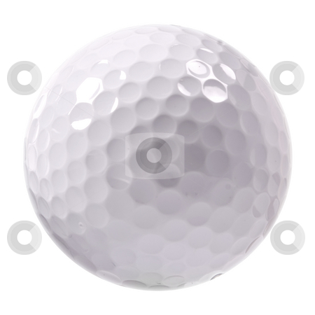 Golf ball stock photo, Golf ball isolated on white background by Dmitry Rostovtsev