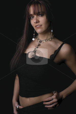 Fashion model  stock photo, Twenty something fashion model with rocker attitude by Yann Poirier
