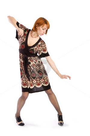Fashion Model Posing stock photo, Young attractive fashion woman posing, isolated over white background. by Rognar
