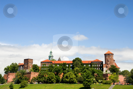 The Wawel Royal Castle in Cracow stock photo, The Wawel Royal Castle in Cracow, Poland built in 14th at the behest of Casimir III the Great, rebuilt by Jogaila and Jadwiga of Poland. by Rognar