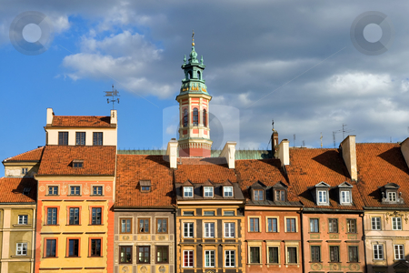 Old Town Houses in Warsaw, Poland stock photo, Houses in the Old Town, Warsaw, Poland. by Rognar