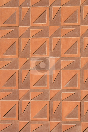 Squares and Triangles Texture stock photo, Squares and Triangles mosaic background. by Rognar