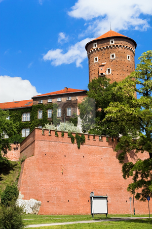 Wawer Royal Castle Fortifications stock photo, Wawel Royal Castle fortifications in Cracow, Poland. by Rognar