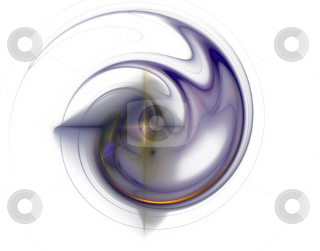 Swirl stock photo, Abstract blue  swirl on white background  - 3d illustration by J?