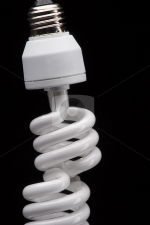 Equilibrium stock photo, Two spiral bulb one on top of the other by Yann Poirier