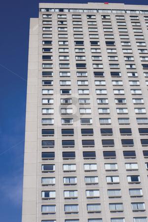 Sky scraper stock photo, Close up of a concrete sky scraper by Yann Poirier