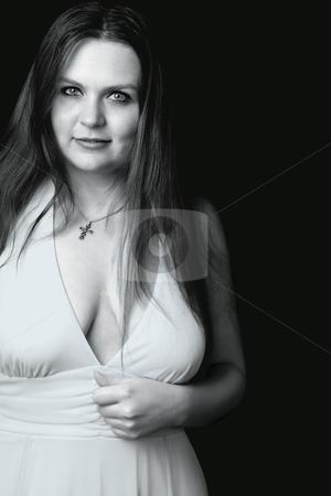 Model evening gown stock photo, Twenty something model in evening gown by Yann Poirier